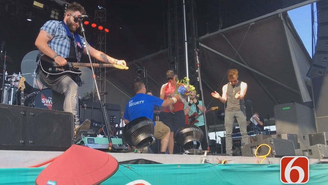 Tony Russell: Swon Brothers Help With Surprise Proposal At G-Fest