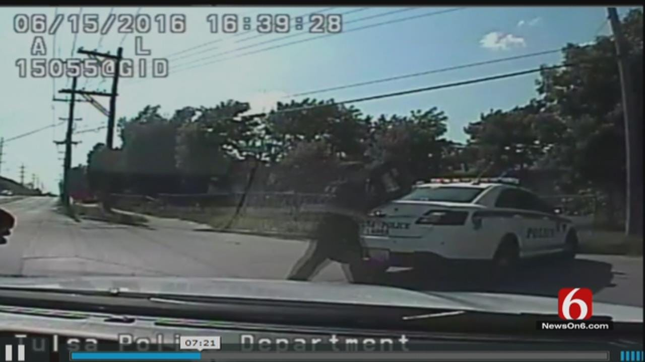 Tulsa Police Release Dashcam Video Of Chase That Led To Fatal Shooting