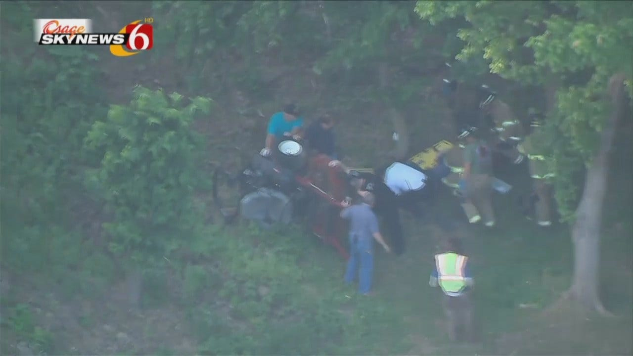 Osage SkyNews 6 HD Video Of Riding Lawnmower Accident At Gilcrease Museum