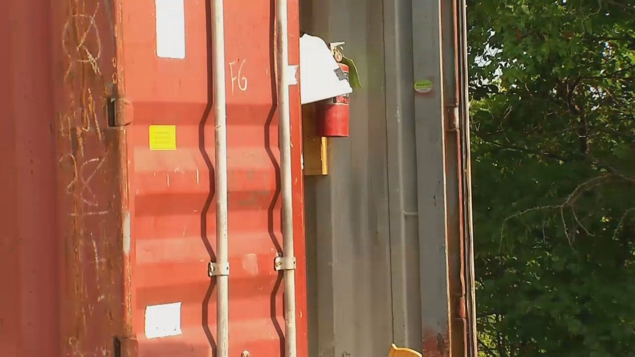 WEB EXTRA: Video From Scene Of Construction Trailer Theft