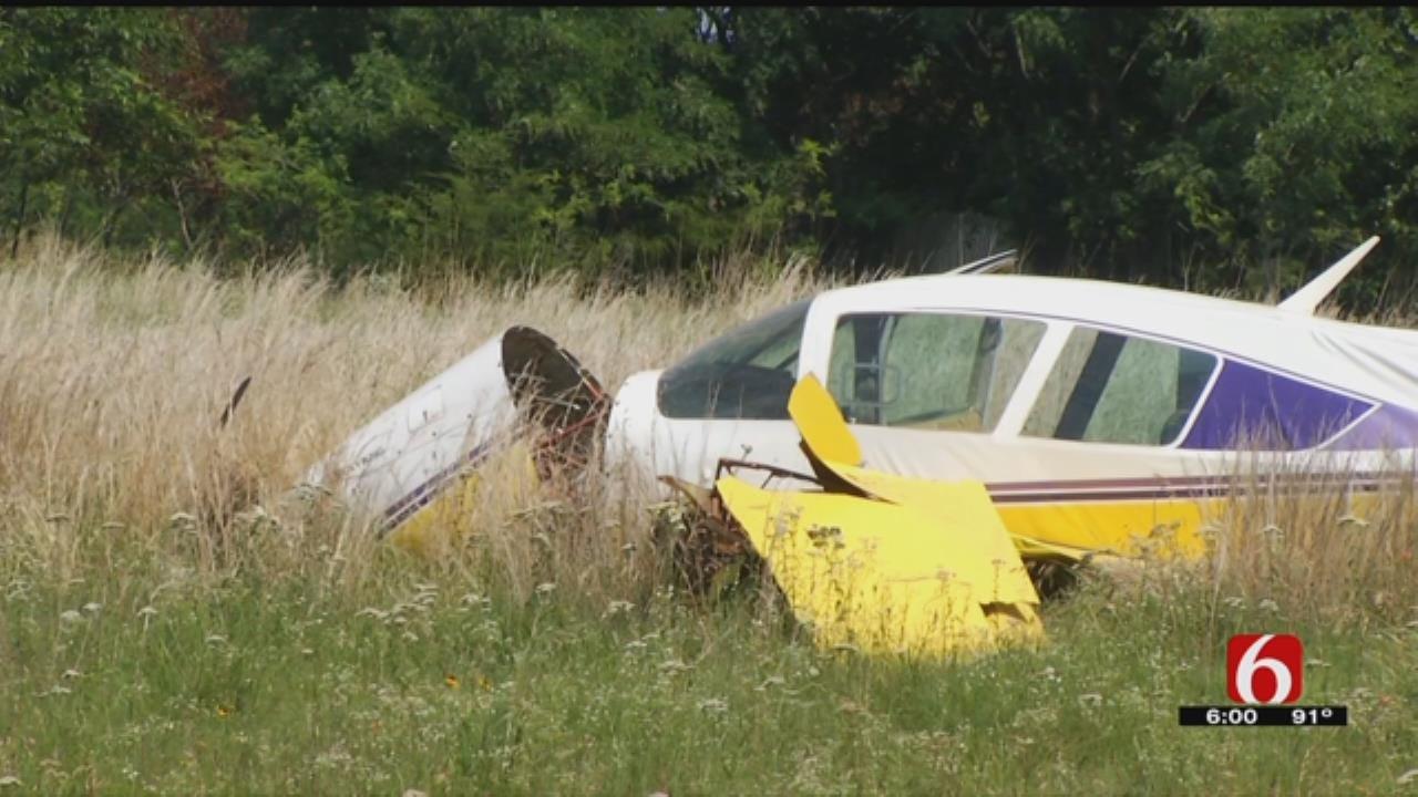 Pilot Taken To Hospital After Plane Makes Hard Landing Near Keystone Lake