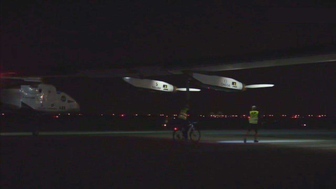 WEB EXTRA: Solar Impulse 2 Landing At JFK International Airport