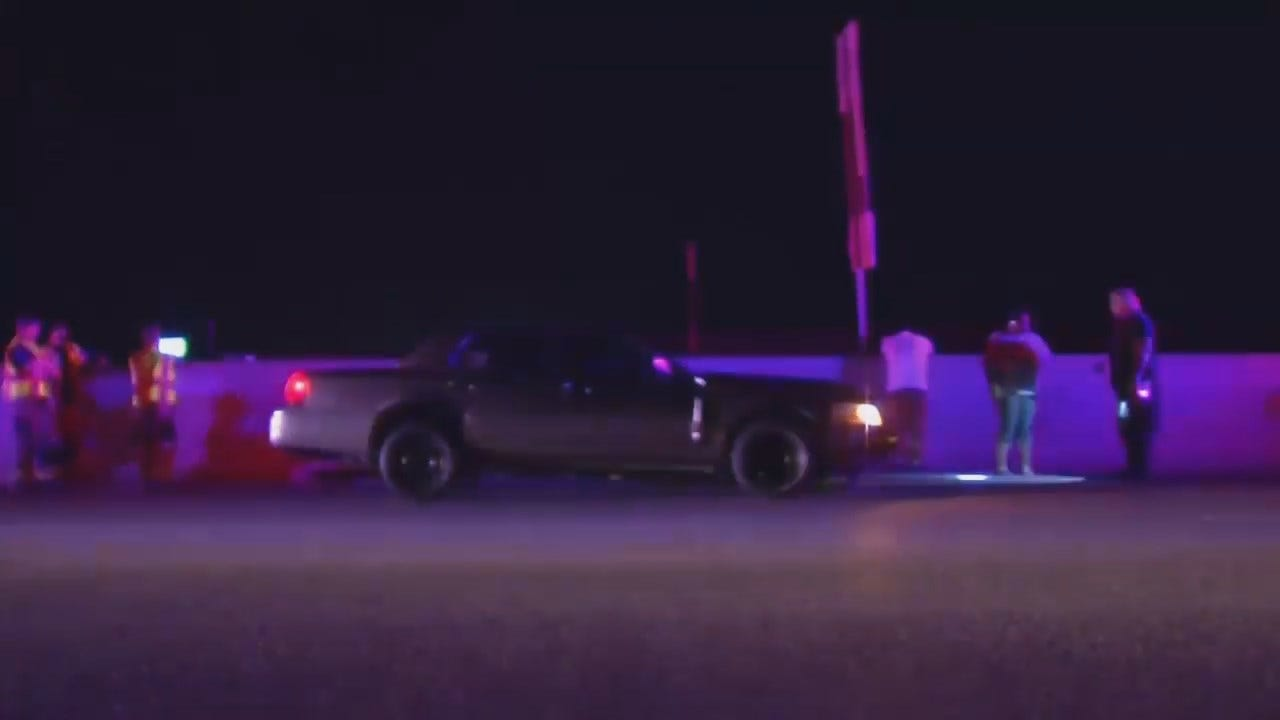 WEB EXTRA: Video Of Crash On Highway 169 North Of Tulsa