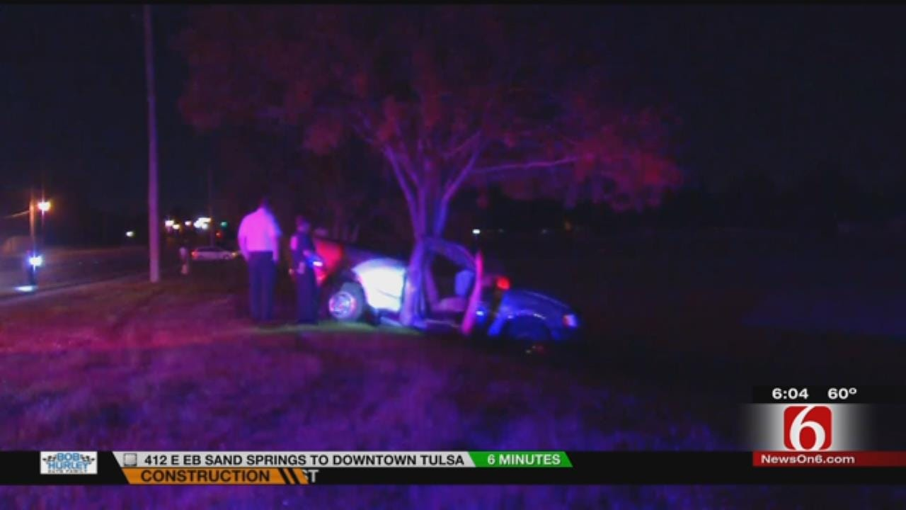 Teen Critical After Hitting Tree In Tulsa Wreck