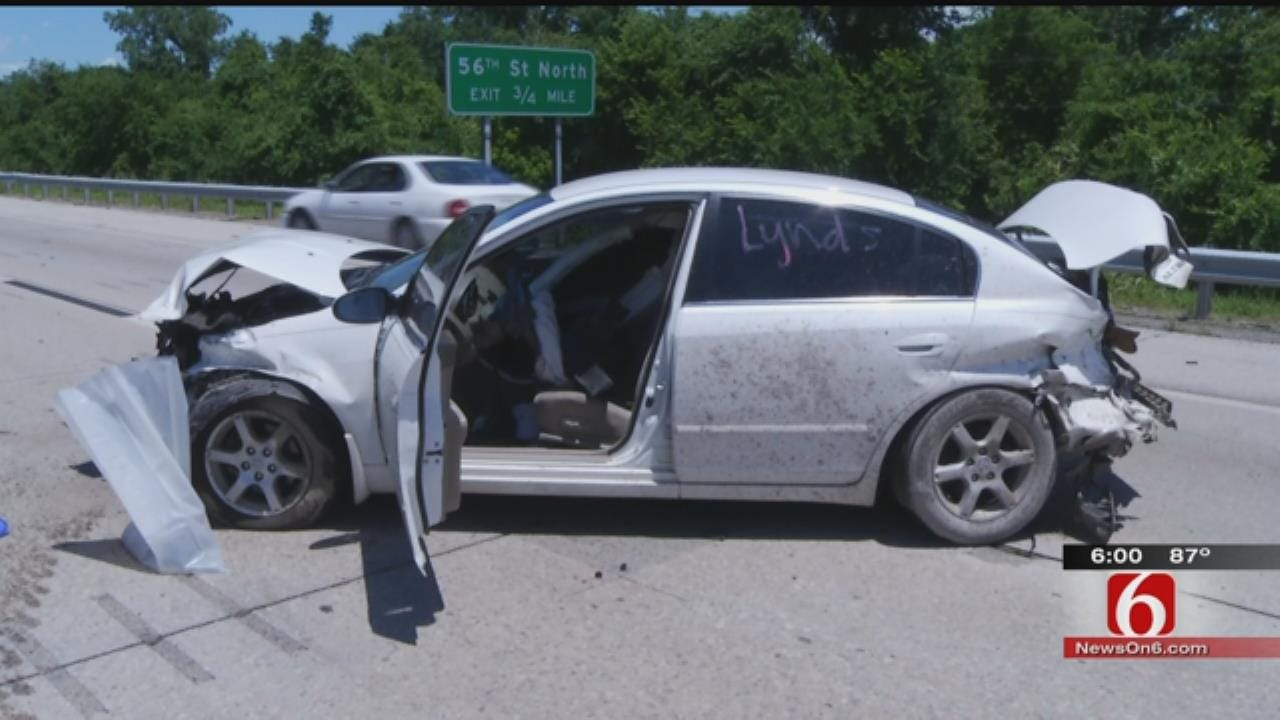 Police: Sleepy Driver Involved In Tulsa Highway Crash