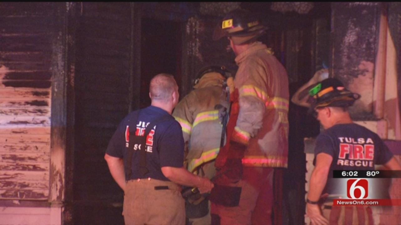 Firefighter Injured At Downtown Tulsa House Fire