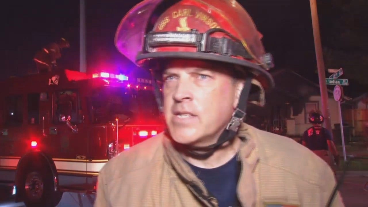 WEB EXTRA: Tulsa Fire Captain Mike Burgess Talks About Fire, Injured Firefighter