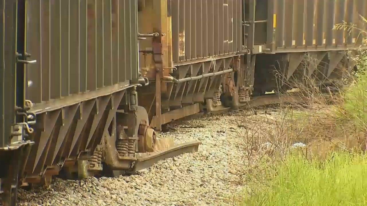 WEB EXTRA: Video Of Downtown Tulsa Train Derailment