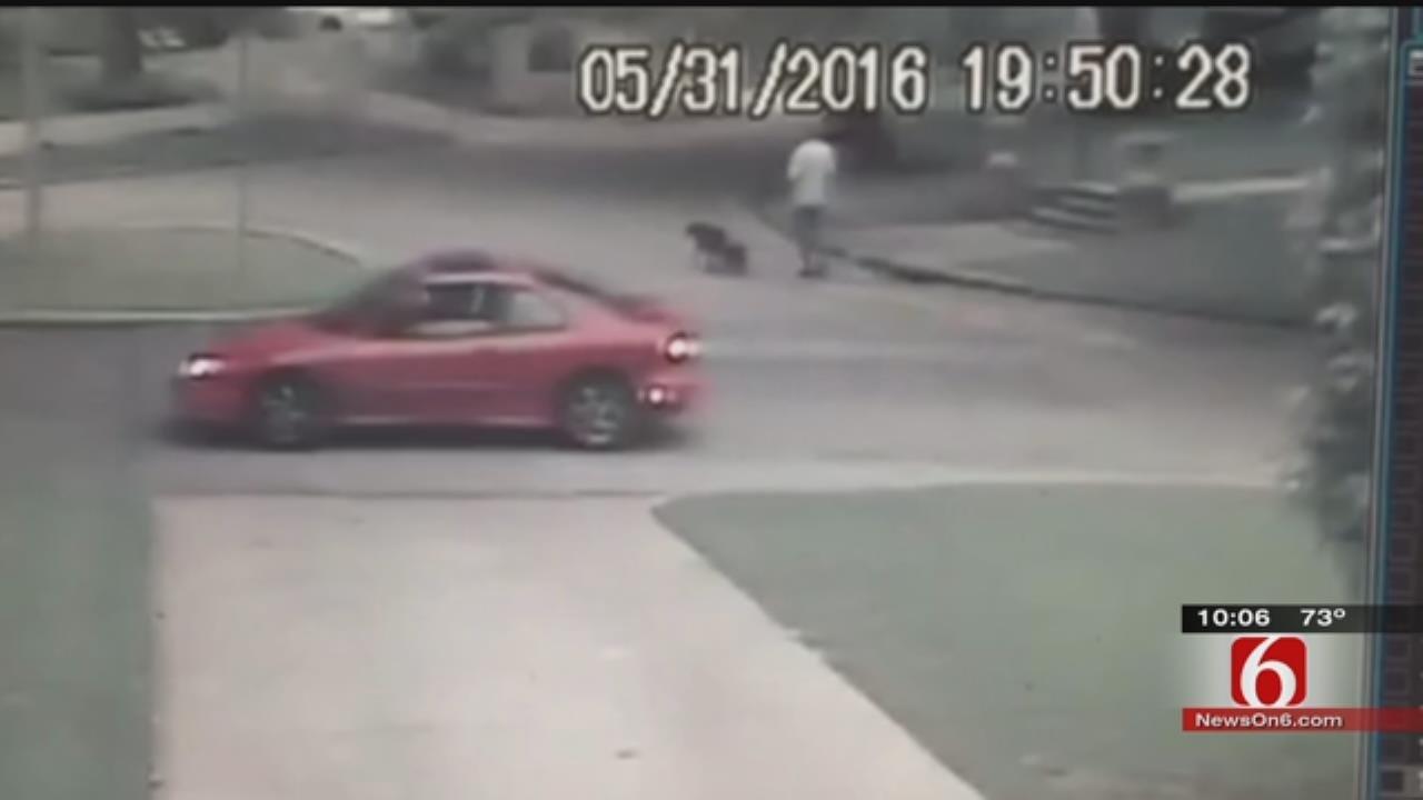 Surveillance Video Captures Armed Robbery In Tulsa Neighborhood