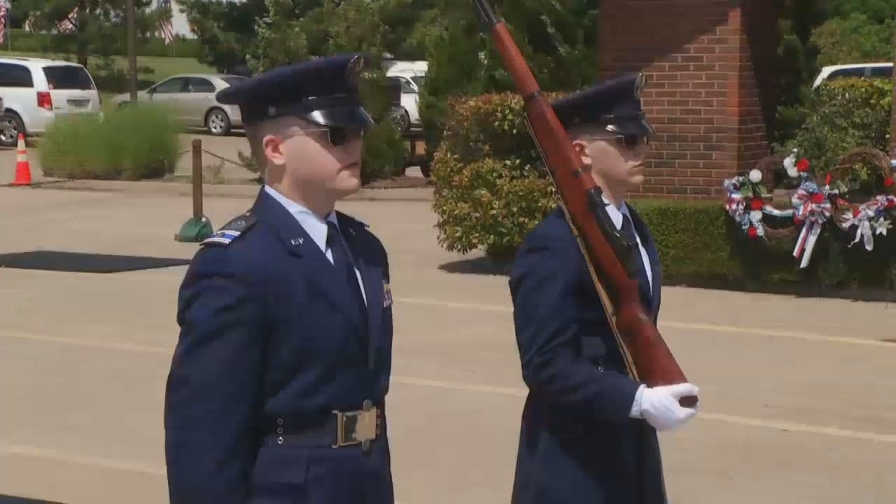 WEB EXTRA: Changing Of The Guard Re-Enactment At Floral Haven