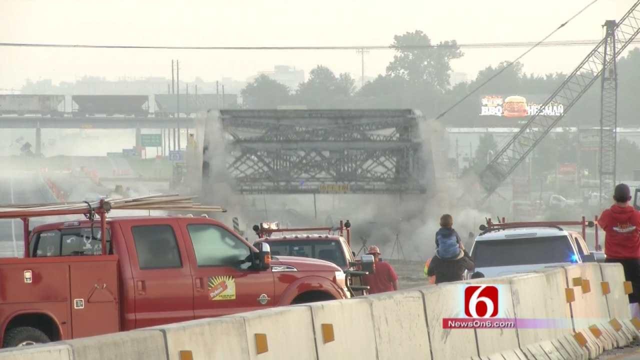 WEB EXTRA: Crews Detonate Truss Bridge Over Bird Creek