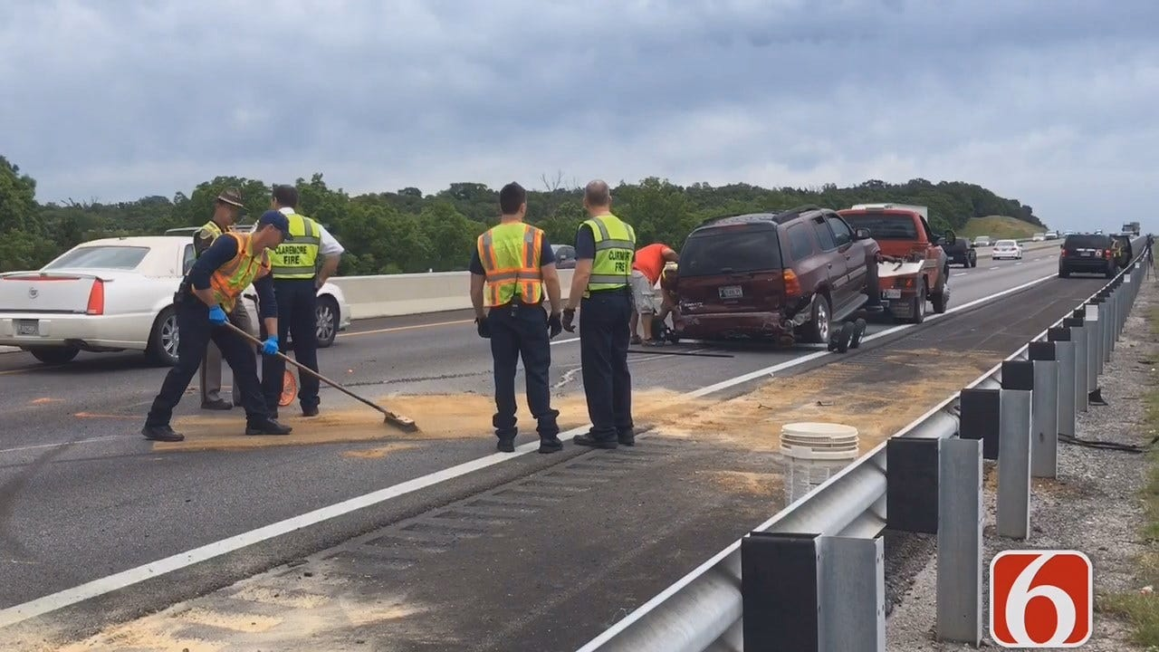 Tony Russell Says SUV Crash Closes Eastbound Lanes Of Will Rogers Turnpike