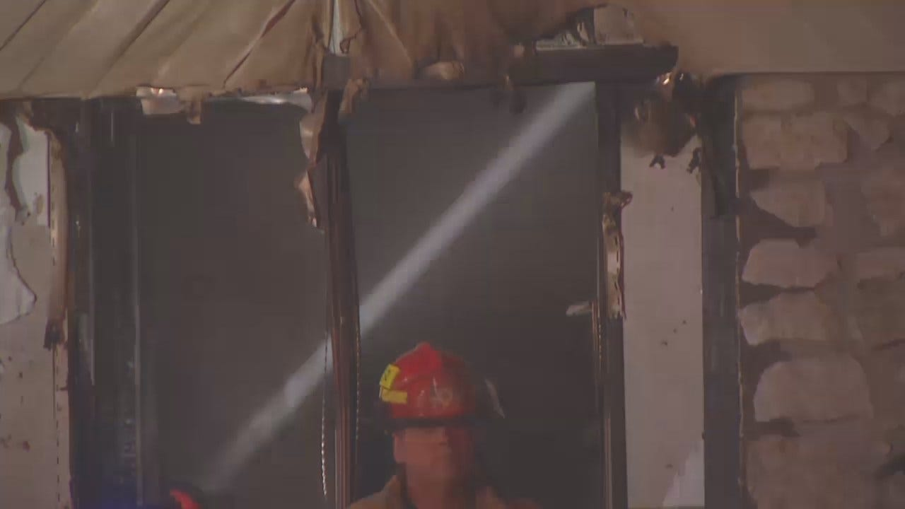 WEB EXTRA: Video From The Tulsa County House Fire