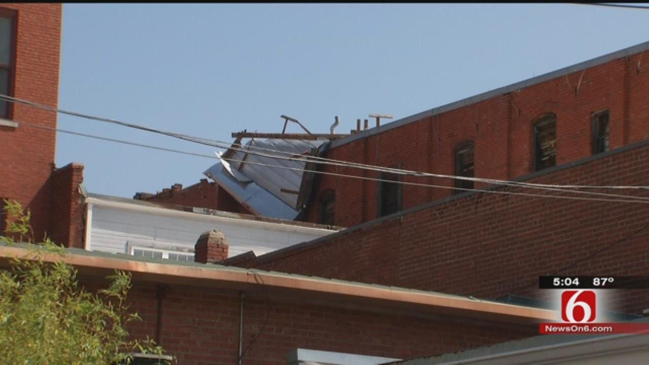 Storm Leaves Wreckage Trail In Downtown Sapulpa