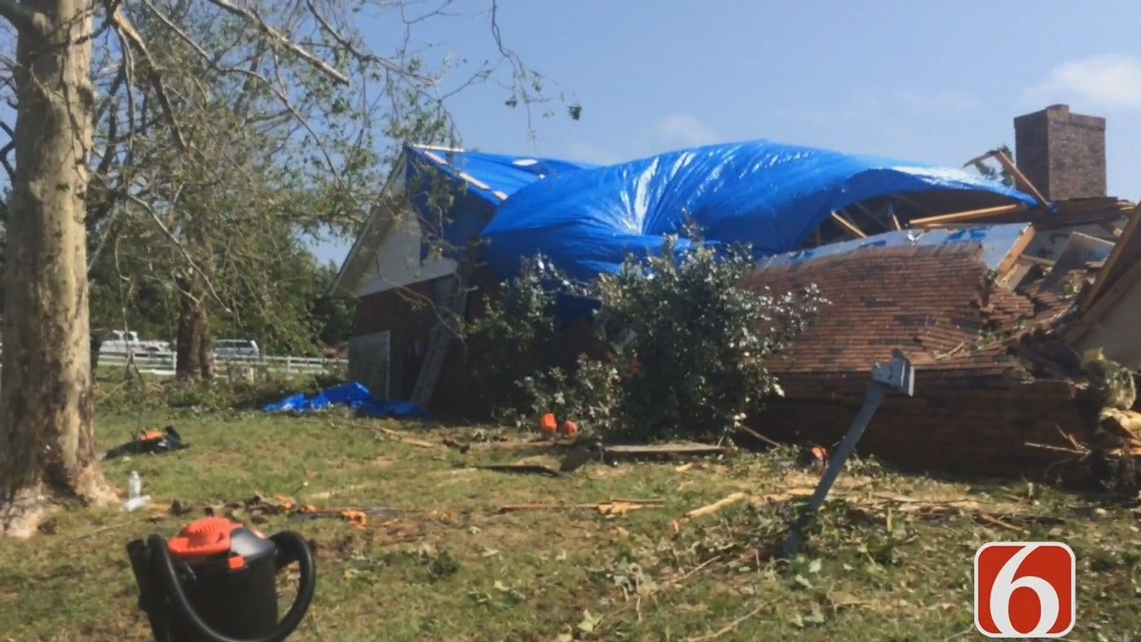 Erin Conrad Reports Creek County Homeowners Begin Cleanup