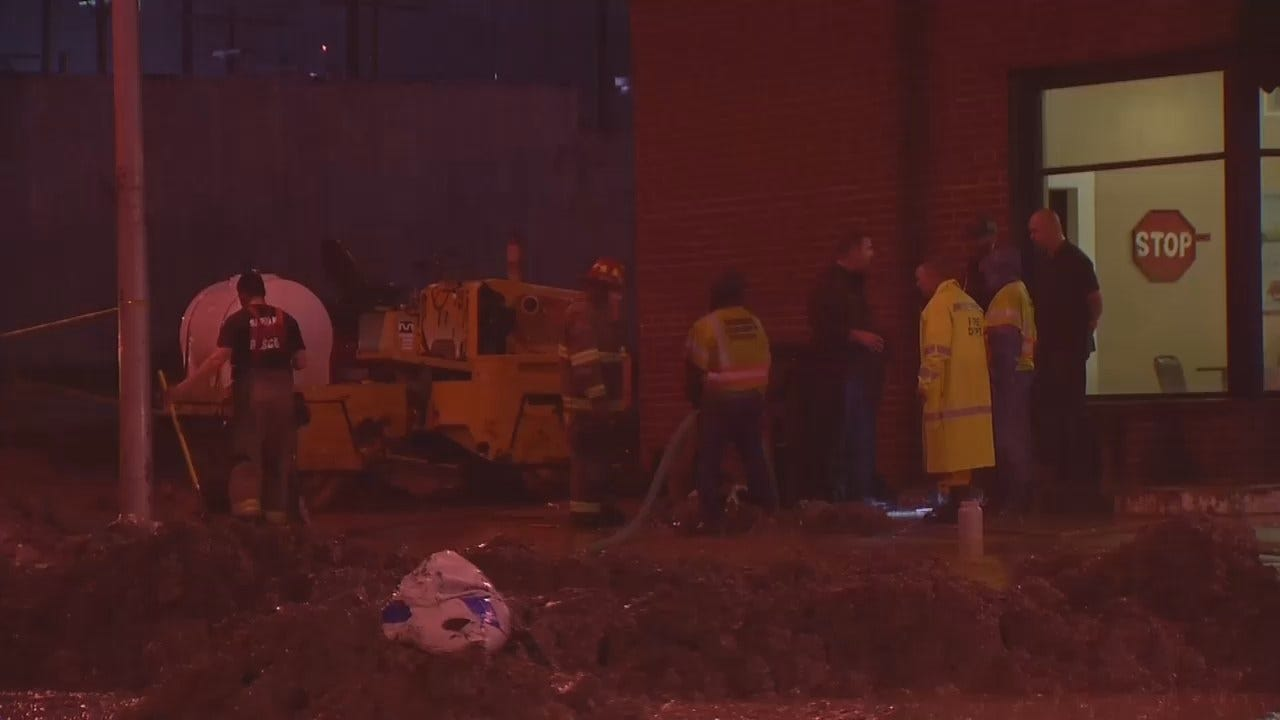 WEB EXTRA: Old Fuel Tank Leaks In Downtown Sapulpa