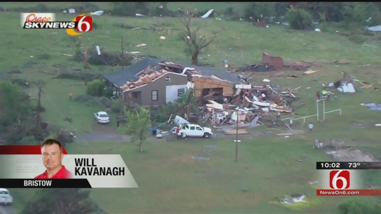 Structures Damaged As Storms Blow Through Bristow