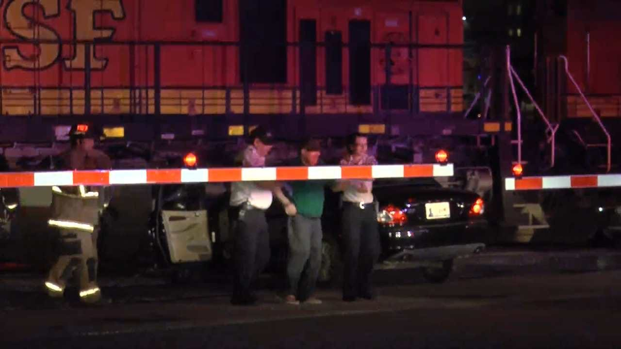 Elderly Driver Hit Head-On By Train In Tulsa, Walks Away