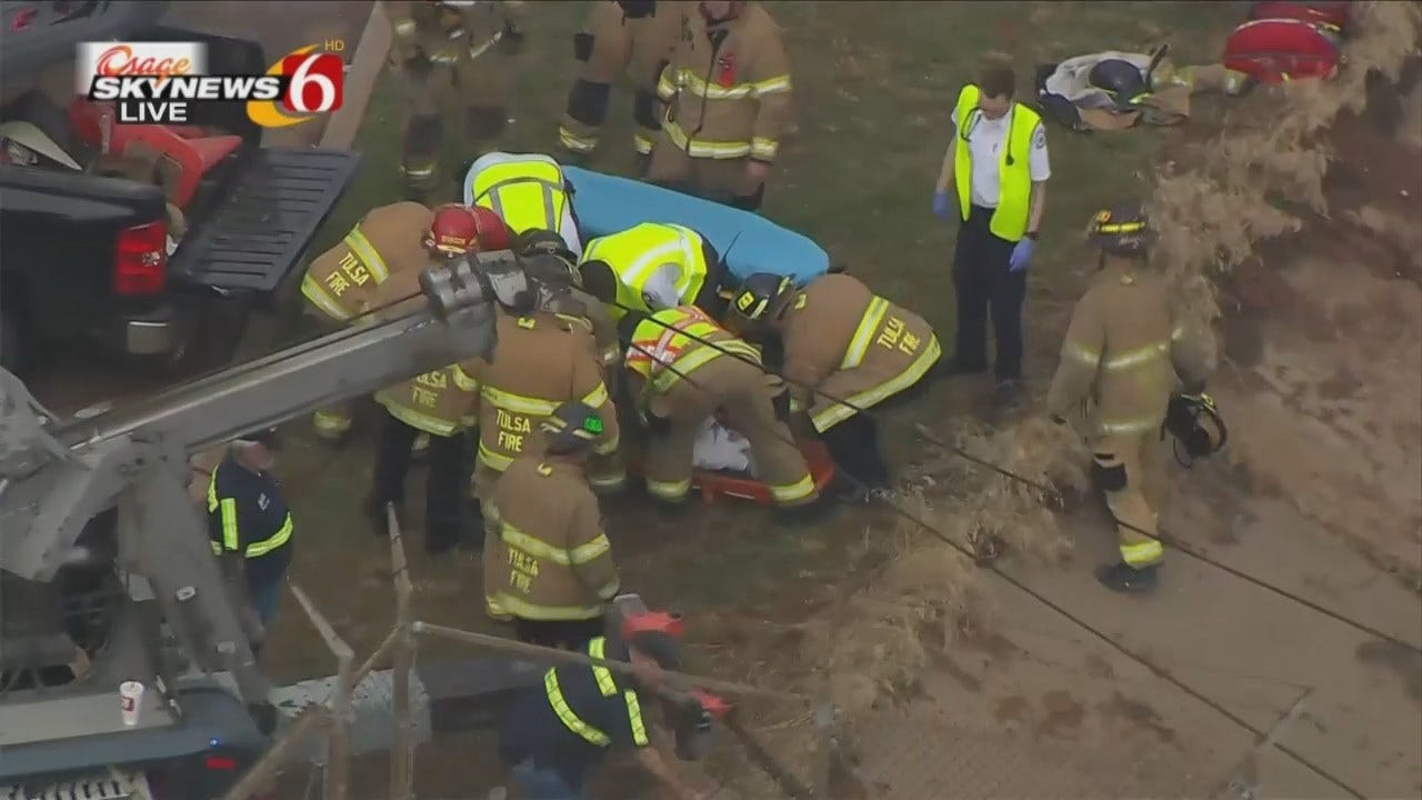 WEB EXTRA: Firefighters Rescue Semi Driver Trapped In Truck On IDL