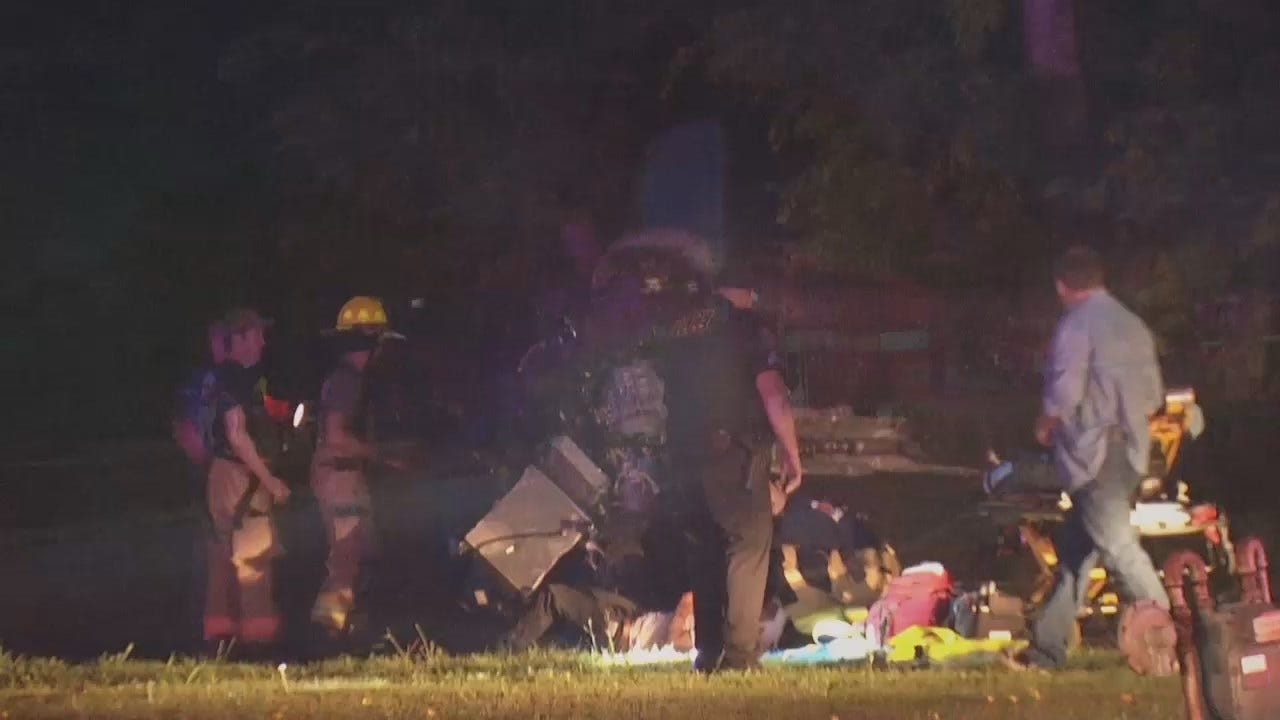 WEB EXTRA: Video From Scene Of Rogers County Crash