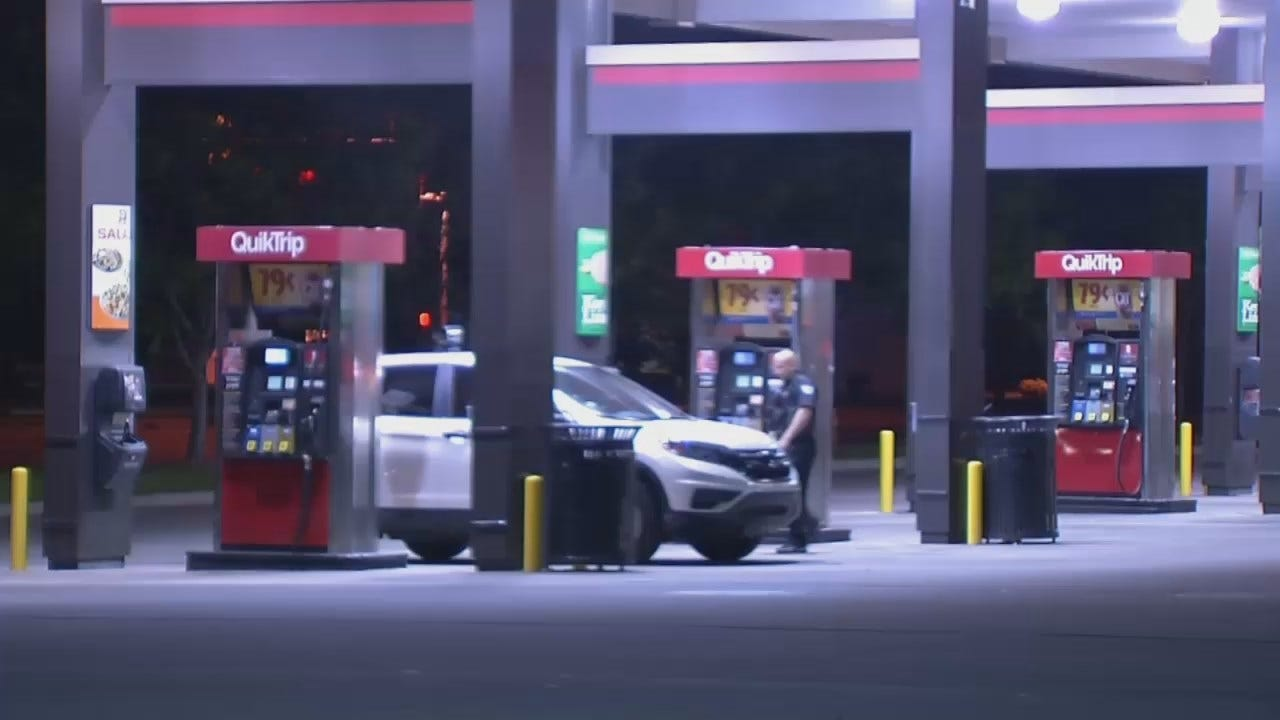 WEB EXTRA: Video From Scene Of QuikTrip Armed Robbery At 41st And Garnett