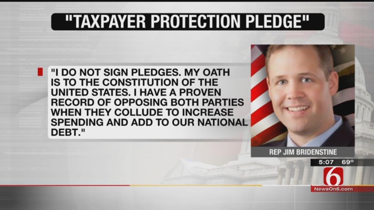 Congressional Candidate Challenges Bridenstine To Sign 'No Tax' Pledge