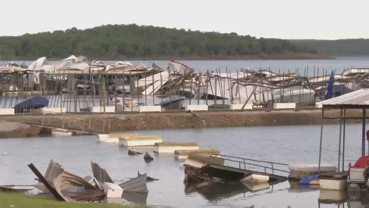 WEB EXTRA: Snake Creek Marina Storm Damage At Tenkiller Lake