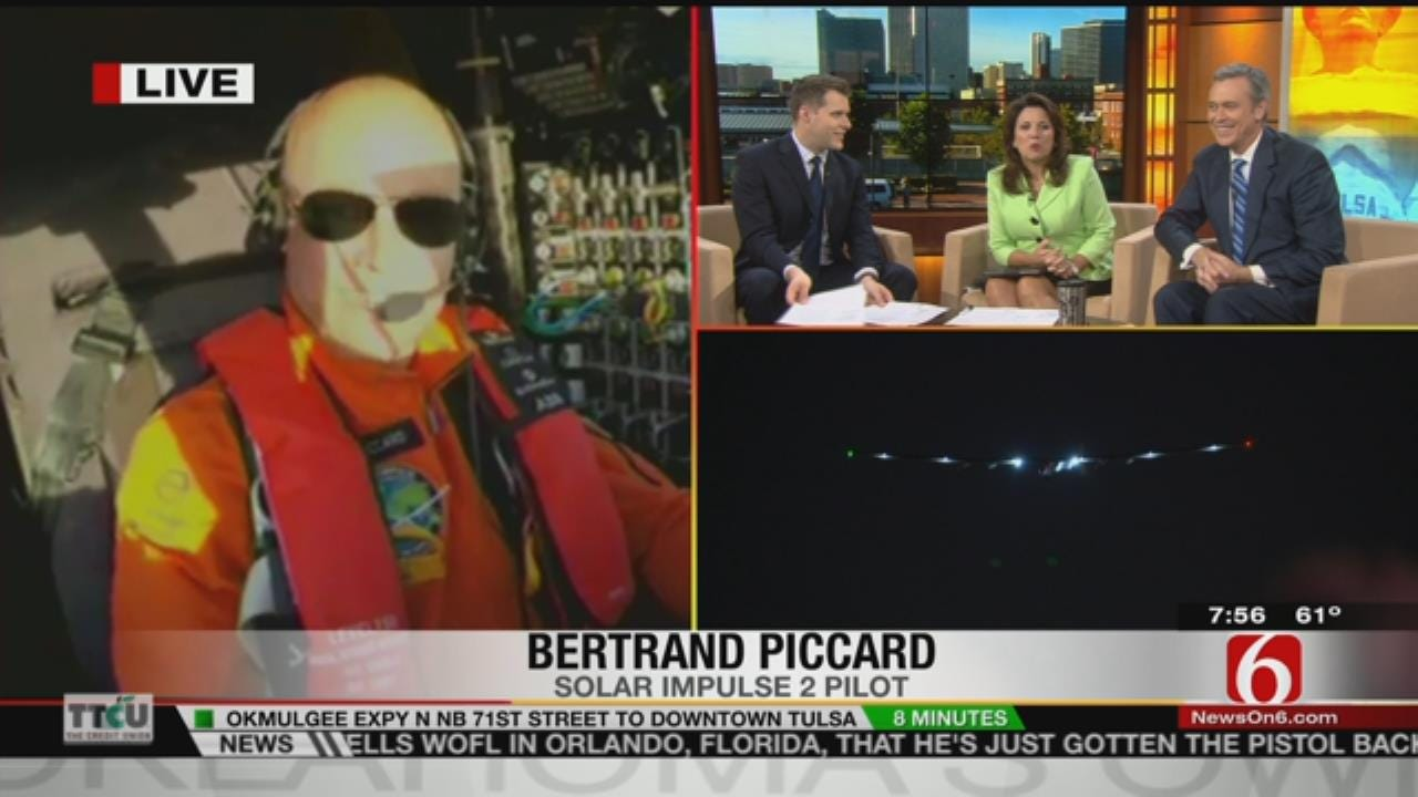 Pilot Of Solar Impulse 2 Talks With 6 In The Morning While En Route To Tulsa