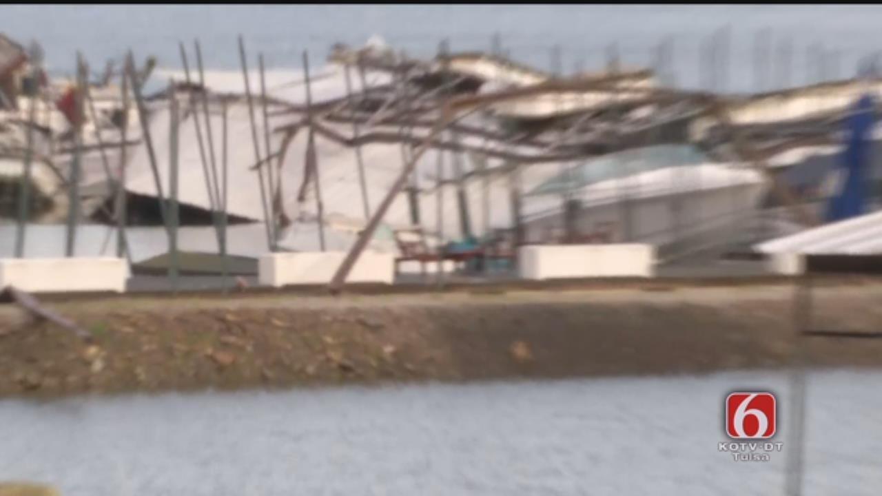 WEB EXTRA: Storm Damage At Snake Creek Marina
