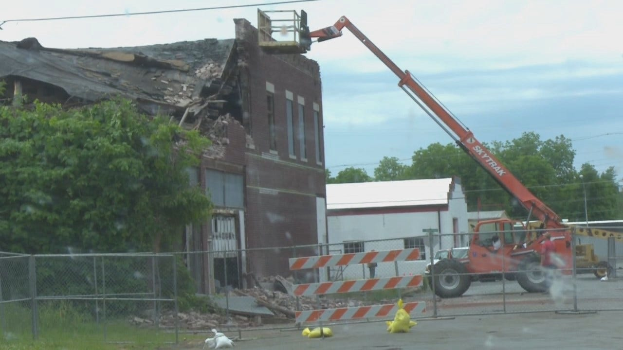 WEB EXTRA: Video Of Workers Demolishing The Second Floor
