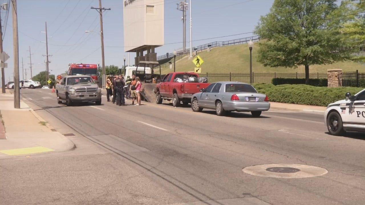 WEB EXTRA: Video Of Crash Scene Of Tulsa's 11th Street
