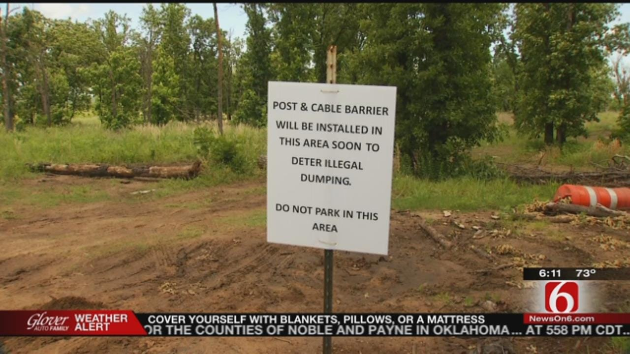 River Parks Adding Fencing Around Turkey Mountain To Stop Illegal Dumping