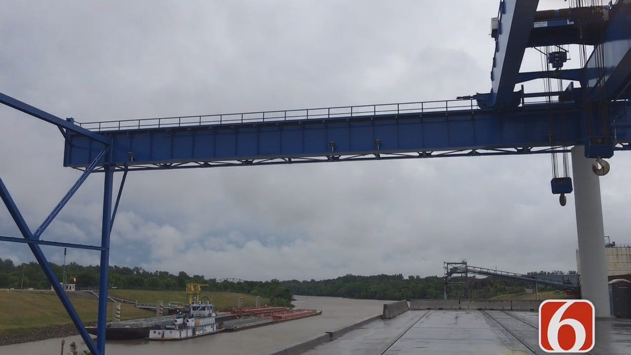 Tony Russell Reports On $12 Million Dock Project At Port Of Catoosa