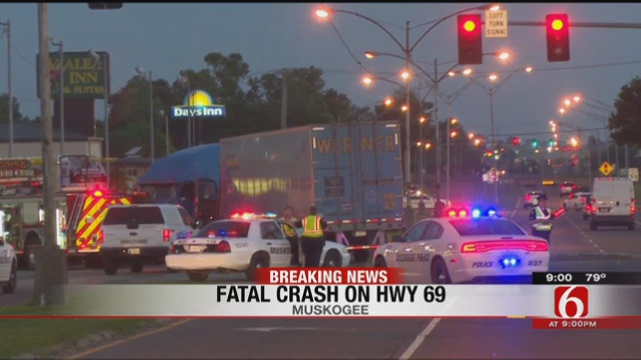 1 Person Dead After 2 Semis Crash Head On, Smash Car Between Them
