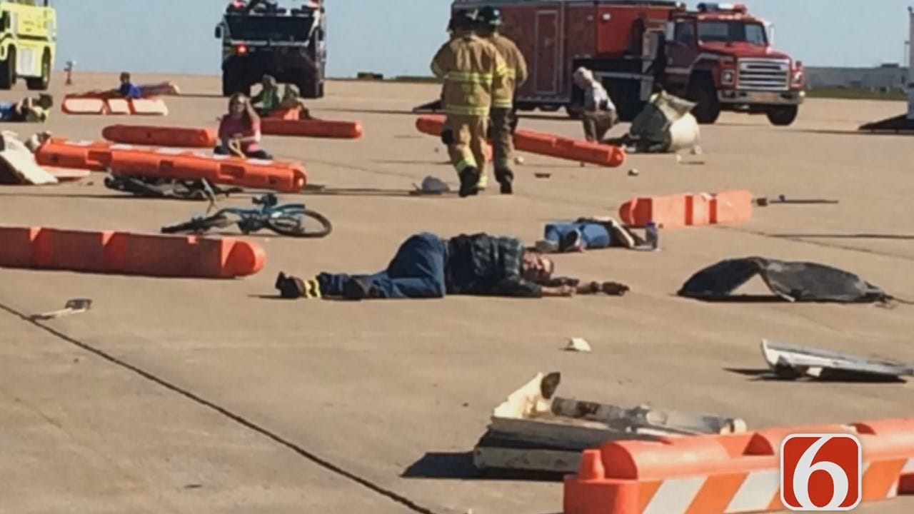 Erin Conrad Reports On Tulsa Airport Disaster Drill