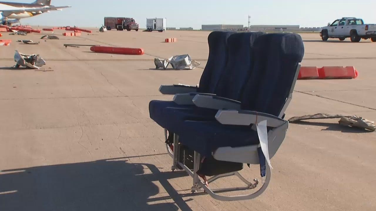 WEB EXTRA: Video From Disaster Drill At Tulsa International Airport