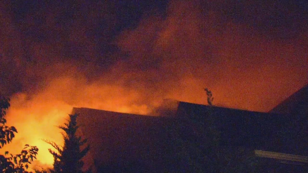 WEB EXTRA: Sapulpa House Fire On Dogwood
