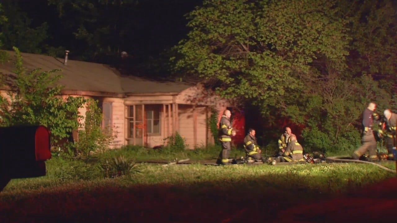 WEB EXTRA: Sapulpa House Fire At Hickory And Burnham