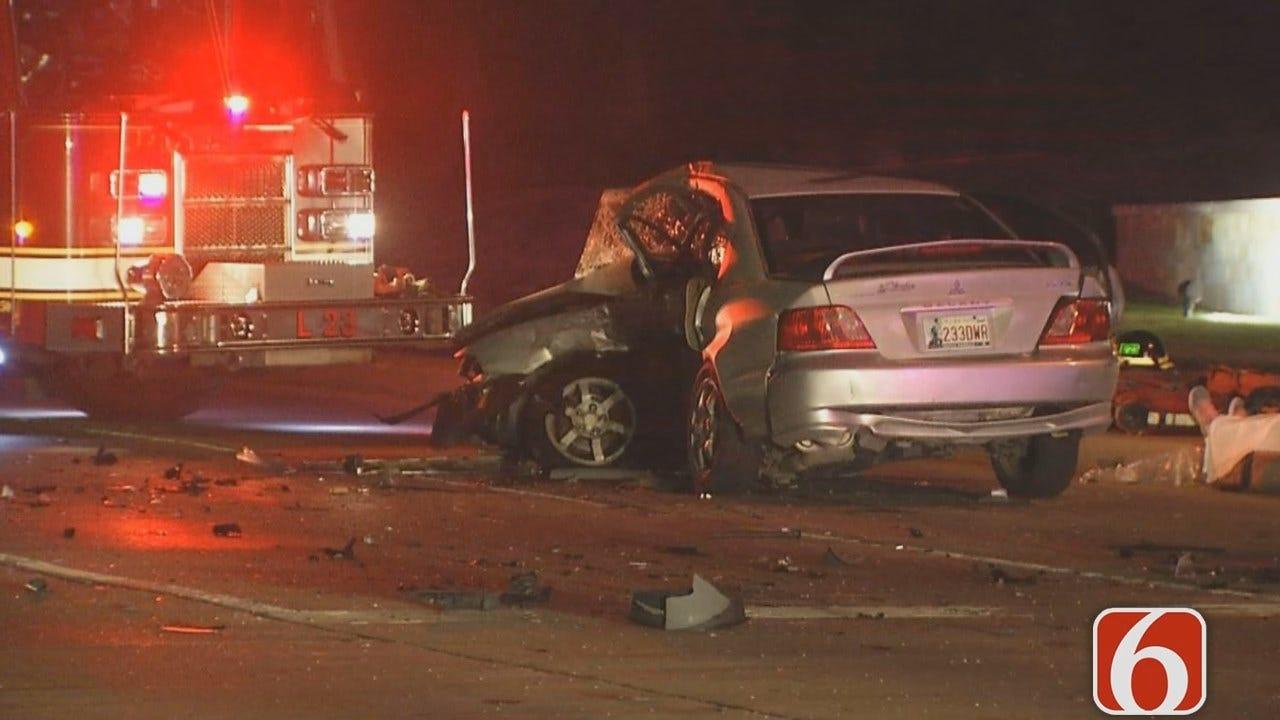 Dave Davis Reports On Fatal Tulsa Wreck Near St. Francis Hospital