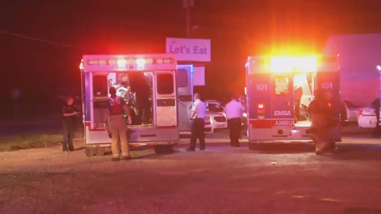 WEB EXTRA: Scenes From Homicide Outside Tulsa Bar