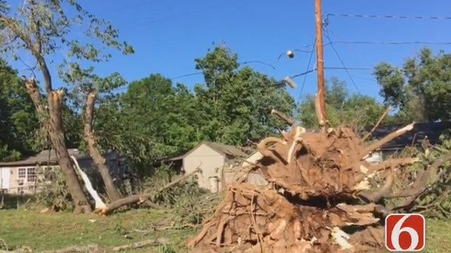 Emory Bryan Reports From Tulsa Tornado Touchdown Site
