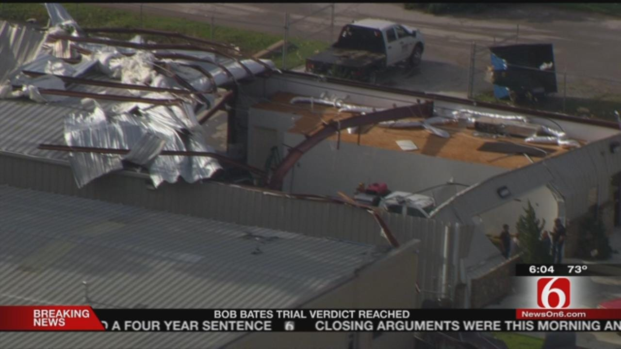 Bixby Business Damaged During Storms