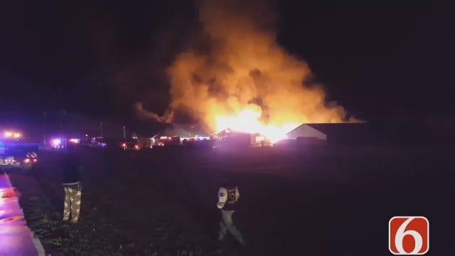 WEB EXTRA: Video Of Washington County Business Fire