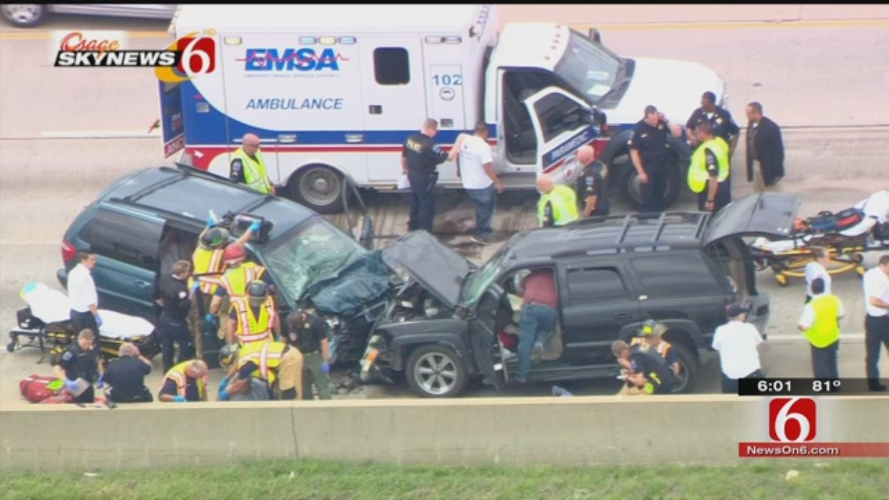 Police Chase Ends In Tulsa Wrong-Way Crash On Highway 169