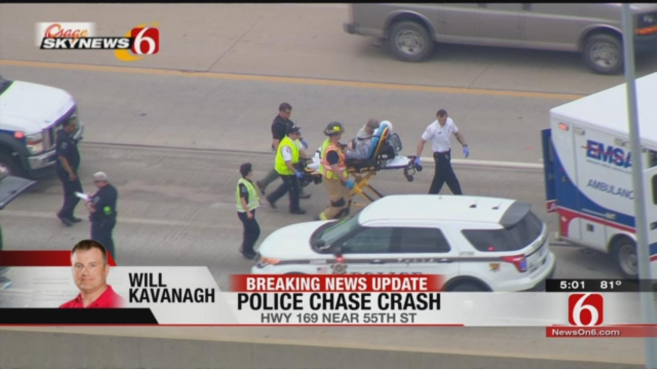 Osage SkyNews 6 HD Over Wrong-Way Crash On Tulsa Highway