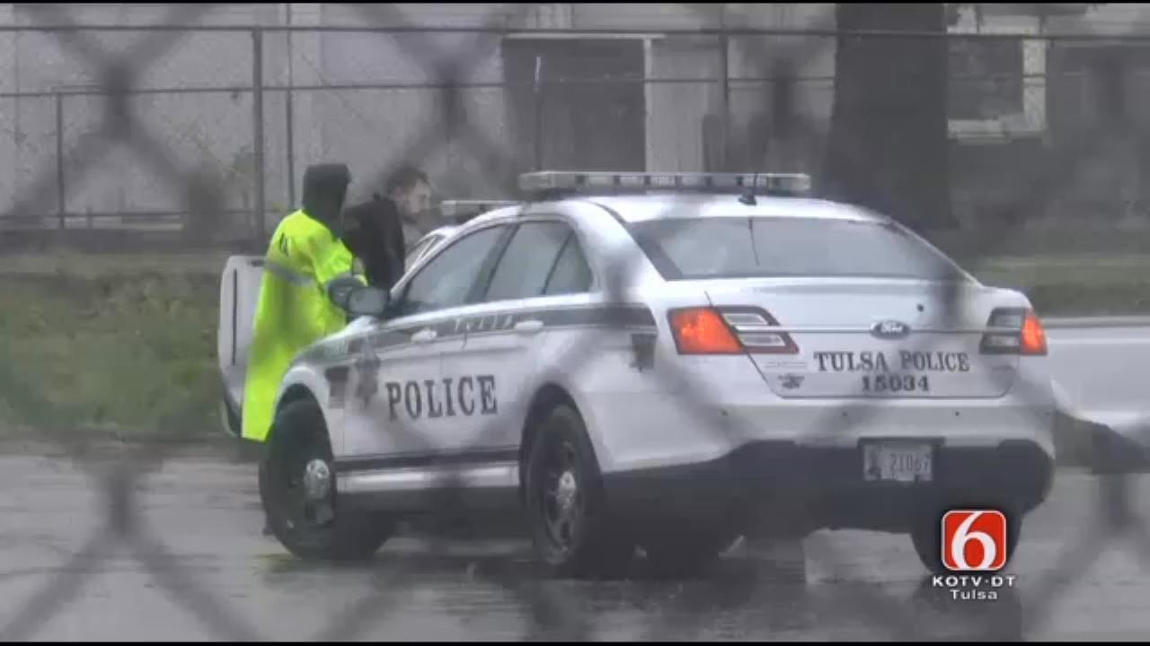 WEB EXTRA: Man Taken Into Custody After Police Cars Vandalized