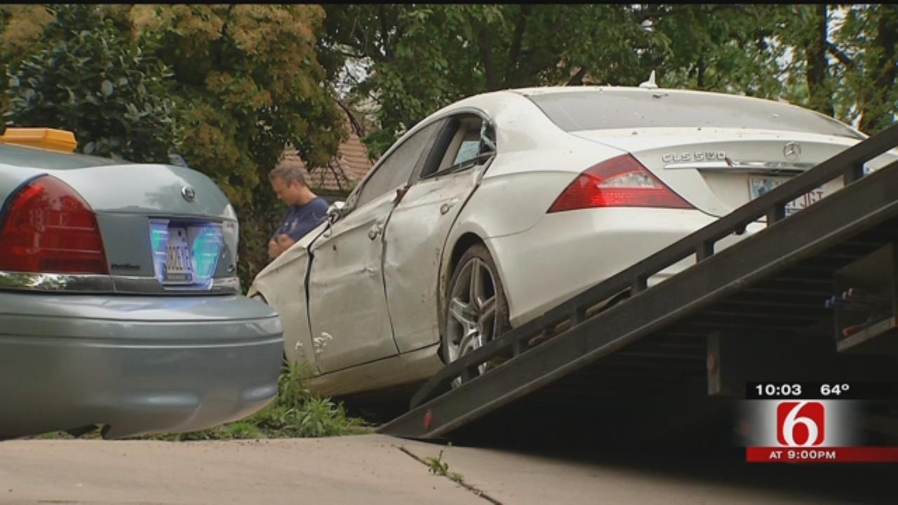 TPD: Fender-Bender Ends With Car Crashing Through Garage