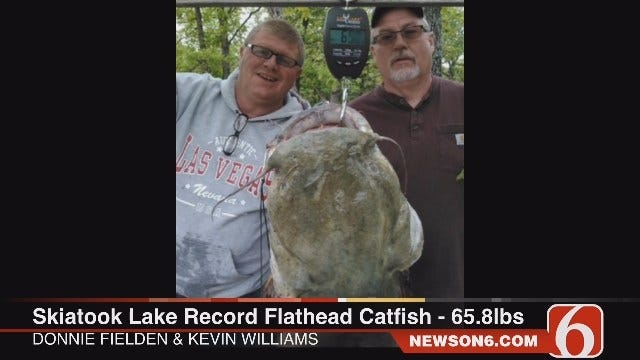 Angler Reels In Record Skiatook Lake Catfish For Second Time