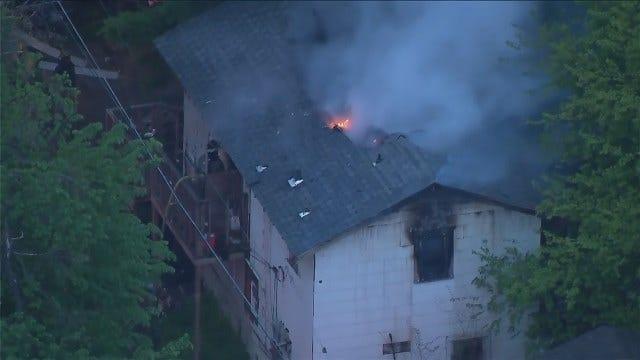 Osage SkyNews 6 HD: Video Of Tulsa Apartment Fire