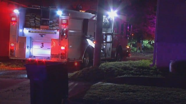 WEB EXTRA: Video From Scene Of Tulsa Apartment Fire Early Thursday